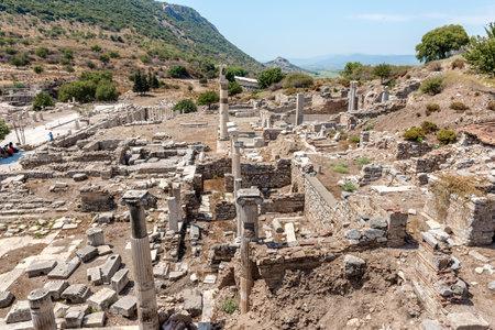 Memmius Monument at Ephesus historical ancient city, in Selcuk,Izmir,Turkey:20 August 2017