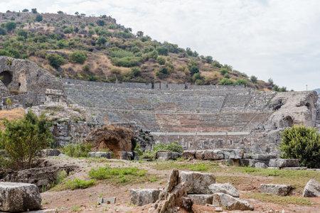 High Resolution panoramic view of  Ephesus historical ancient city, in Selcuk,Izmir,Turkey.