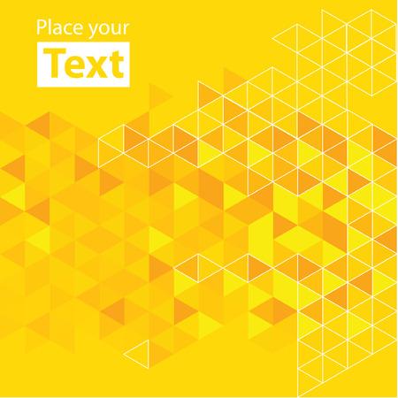 Ilustración de Abstract mosaic background. Yellow cubic geometric background.  - Imagen libre de derechos