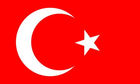 Illustration pour turkish flag - image libre de droit
