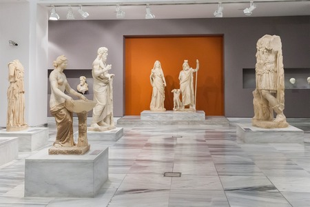 CRETE, GREECE - JULY 26, 2015: Heraklion Archaeological Museum, it is contains the most notable and complete collection of artifacts of the Minoan civilization of Crete