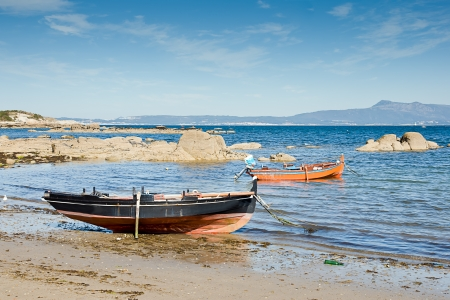 boats in O Grove, Pontevedra, Galicia, Spain