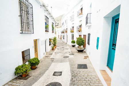 Typical white town in Andalusia, Spain