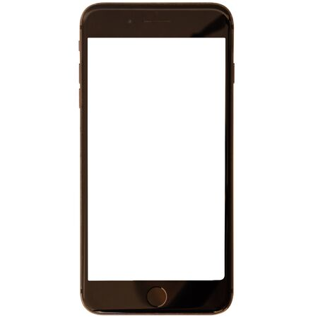 Photo pour Modern smartphone isolated on white background - image libre de droit