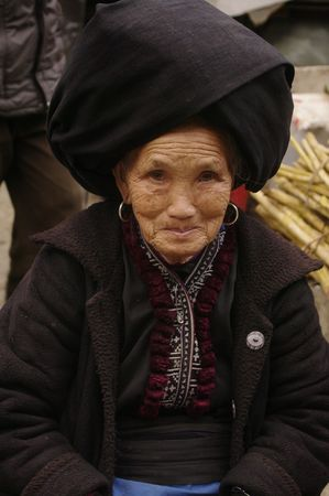 Grandmother in market Sin Ho