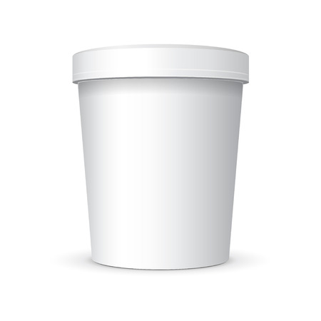White Food Plastic Tub Bucket Container