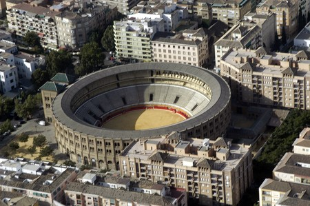 Aerial view of the MONUMENTAL Bullring GRANADA