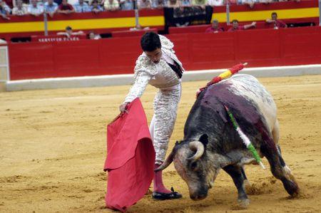 The bullfighter Miguel Abellan in the bullfight held in Granada on 3 June 2007, at Feria de Corpus