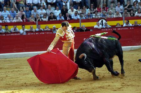 The bullfighter Manuel Jesus el Cid in the bullfight held in Granada on 7 June 2007, at Feria de Corpus