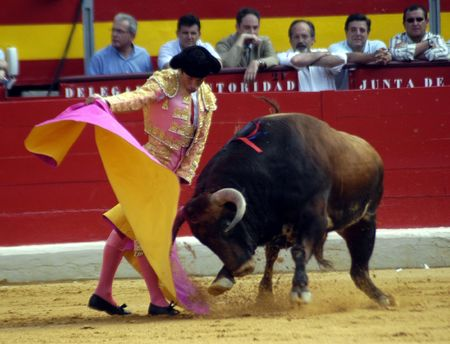 The bullfighter Manuel Diaz, El Cordobes in the bullfight held in Granada on 7 June 2007, at Feria de Corpus
