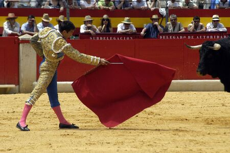 The bullfighter Jose Maria Manzanares in the bullfight held in Granada on 6 June 2007, at Feria de Corpus