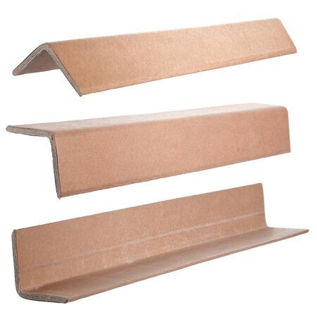 Foto de Industrial cardboard corner protection for pallets - Imagen libre de derechos