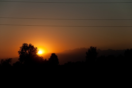 Sunset at Rive D Arcano - udine - Italy