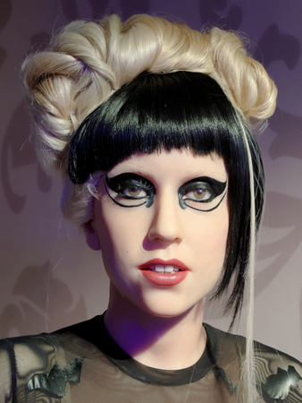 BLACKPOOL, JANUARY 14: Lady Gaga's wax figure at Madame Tussauds, UK 2018,