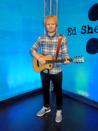 BLACKPOOL, JANUARY 14: Madame Tussauds, UK 2018. Edward Christopher Sheeran is an English singer, songwriter, guitarist, record producer, actor and rapper.