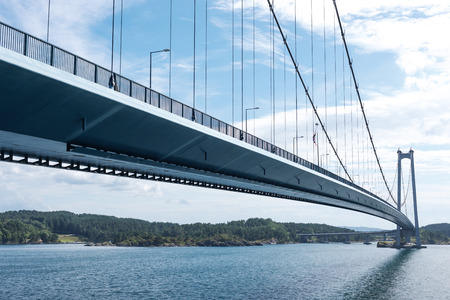 Stordabrua is a suspension bridge and one of the largest suspension bridges in Norway
