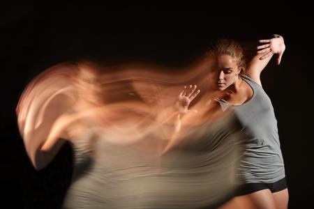 Art photo of dancing woman