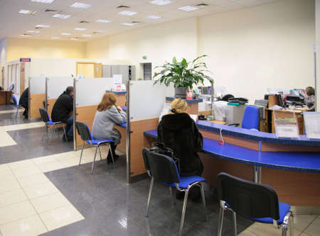 visitors in bank