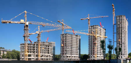 Photo for Panorama of building of an housing estate - Royalty Free Image