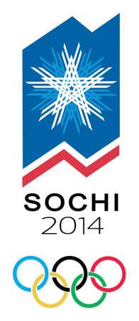 vector winter olympiad symbol Sochi. Russia