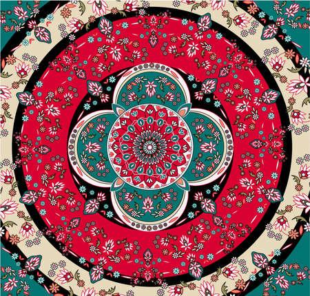 Illustration pour square oriental carpet vector - image libre de droit