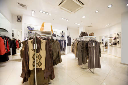 Premise of shop of clothes, Autumn collection