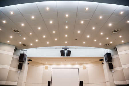 Video screen and an audiosystem for viewing of presentations