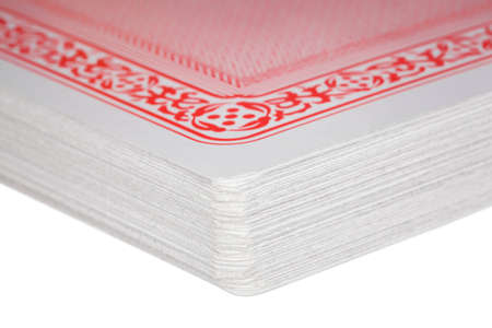 Fragment of exactly combined deck of playing cards