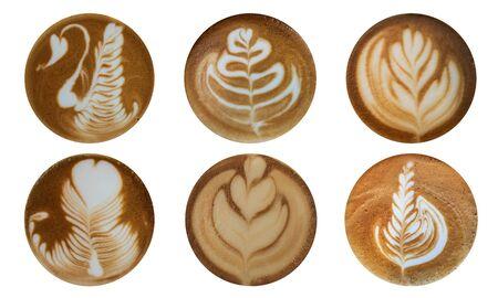 Photo pour Latte art coffee decoration face - image libre de droit