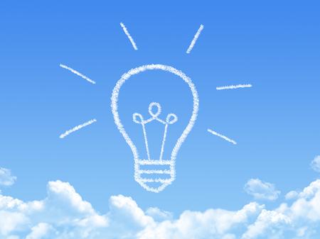 cloud on blue background,idea cloud box