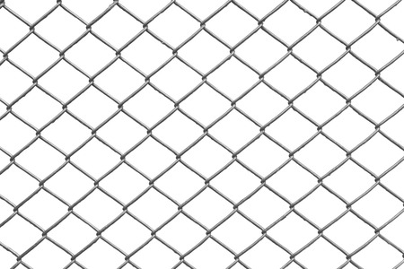 Photo for chain link fence with white background - Royalty Free Image