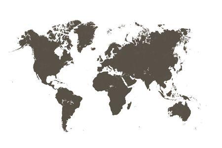 Foto de brown map of the world - Imagen libre de derechos