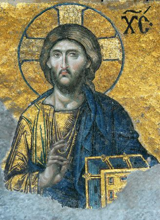 Mosaic of Jesus Christ in the church of Hagia Sofia