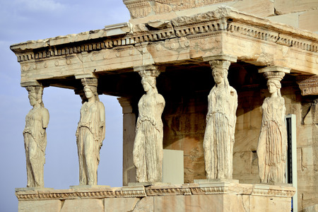 Caryatides at Acropolis Athens Greece