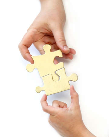 Foto per Mother and Daughter Folding puzzle - Immagine Royalty Free