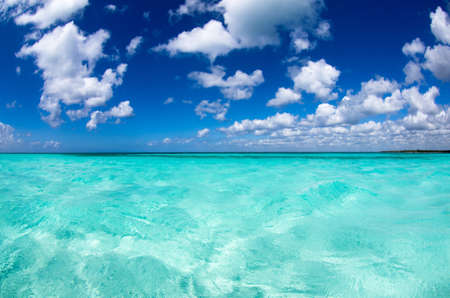 beautiful blue caribbean sea