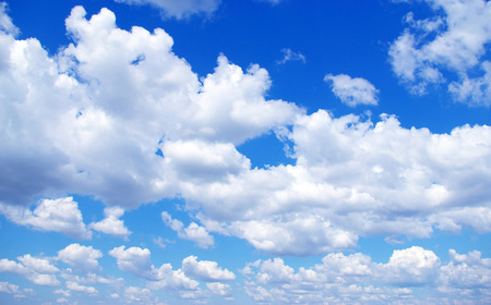 Blue sky with a tiny clouds