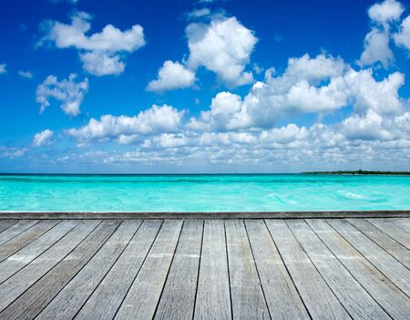 Photo for Caribbean sea beach and tropical sea - Royalty Free Image