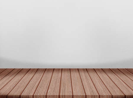 Photo for Wooden floor cement wall gray color smooth surface texture concrete material background detail architect construction - Royalty Free Image