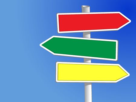 Signpost with three arrows (XXL) to add your own text