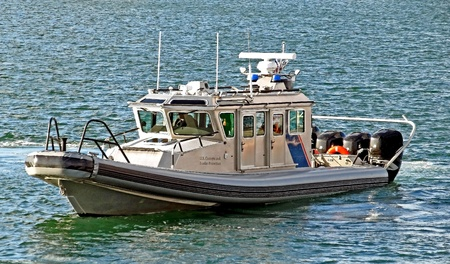 A U.S. Customs and Border Protection Patrol Boat