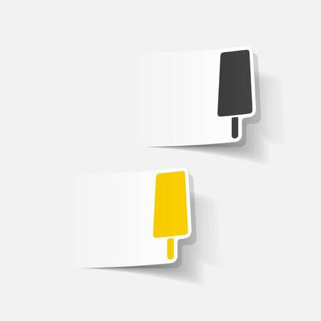 Realistic element of modern design