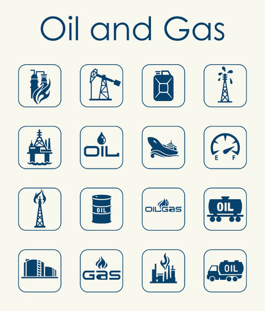 It is a set of oil and gas simple web icons