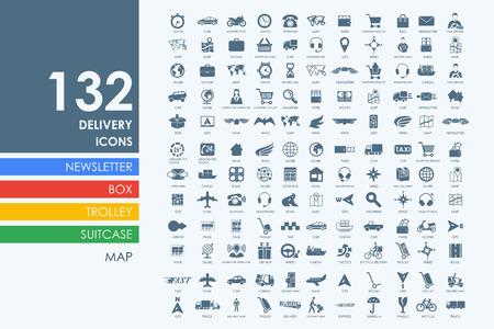 Foto de delivery vector set of modern simple icons - Imagen libre de derechos