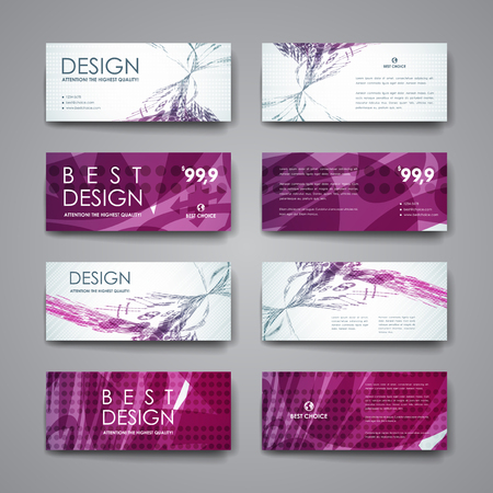 Set of modern design banner template in abstract background style. Beautiful design and layout