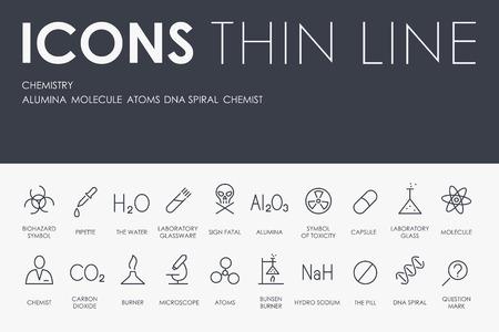 Ilustración de Set of Chemistry Icons - Imagen libre de derechos