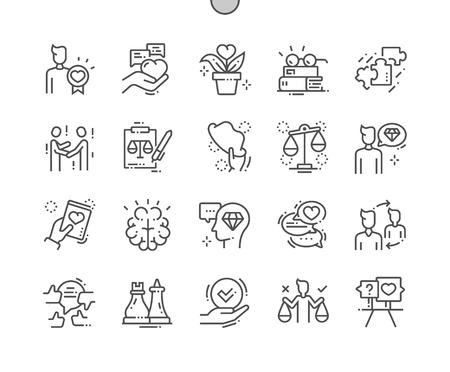 Ilustración de Ethics Well-crafted Pixel Perfect Vector Thin Line Icons 30 2x Grid for Web Graphics and Apps. Simple Minimal Pictogram - Imagen libre de derechos