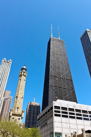 Chicago skyline on Michigan Ave(Magnificent Mile)