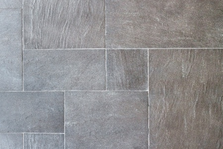 Natural slate tile pavings