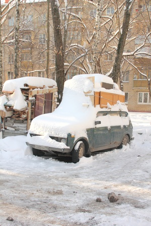 Snowfall in the city  City streets  Moscow